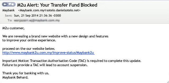 Penipuan e-mel atau Phishing