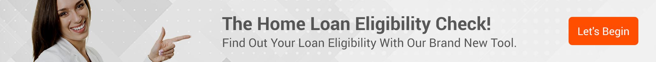 Home loan eligibility widget