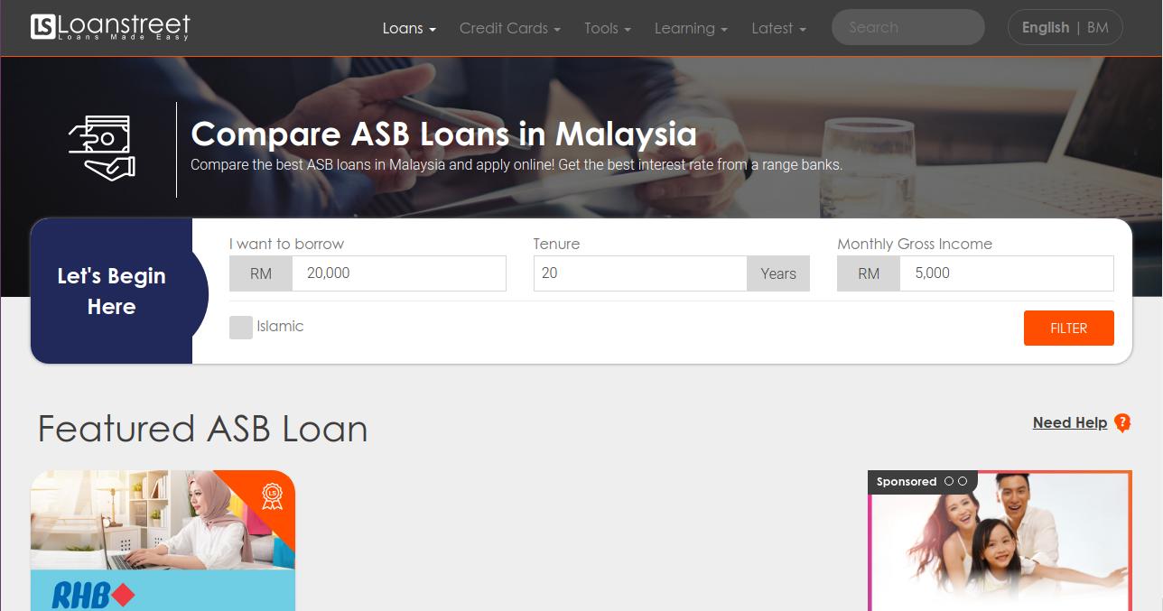 compare asb loans in malaysia