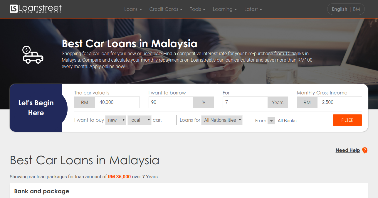 Best Used Car Loan Rates >> Best Car Loans In Malaysia 2019 Compare And Apply Online