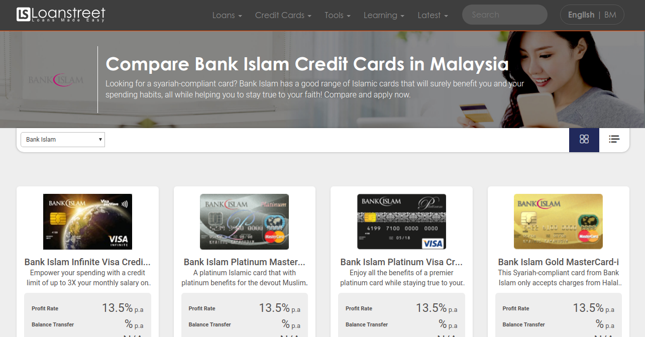 Compare Bank Islam Credit Cards In Malaysia 2020 Loanstreet