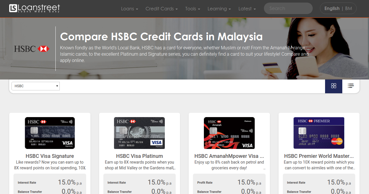 Compare HSBC Credit Cards in Malaysia 2021 | Loanstreet