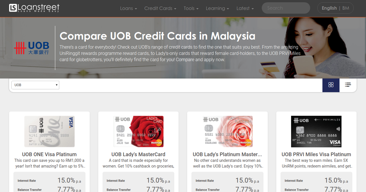 Compare Uob Credit Cards In Malaysia 2020 Loanstreet
