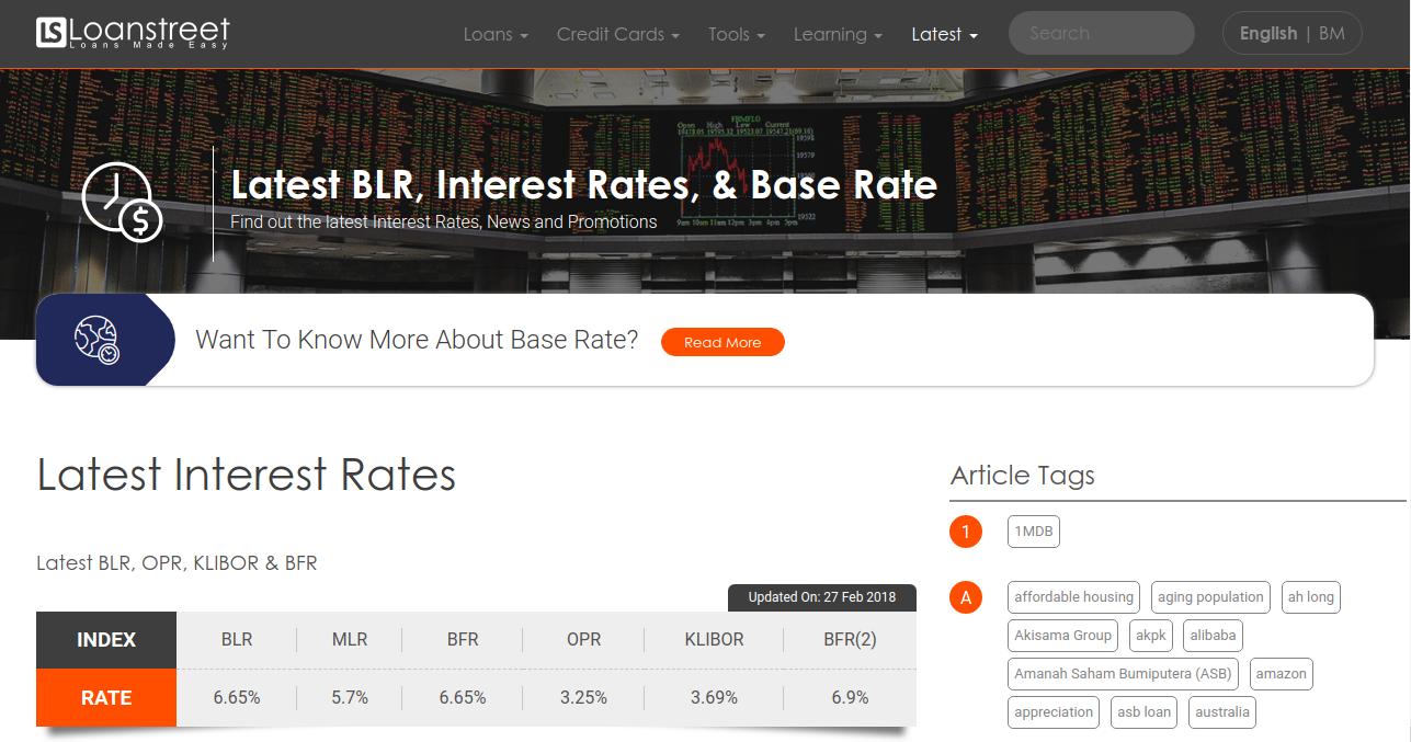 latest blr  interest rates   u0026 base rate