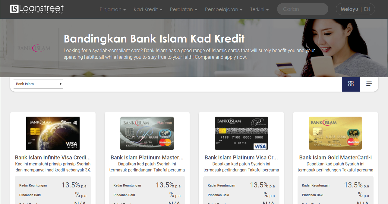 Bandingkan Kad Kredit Bank Islam Di Malaysia 2020