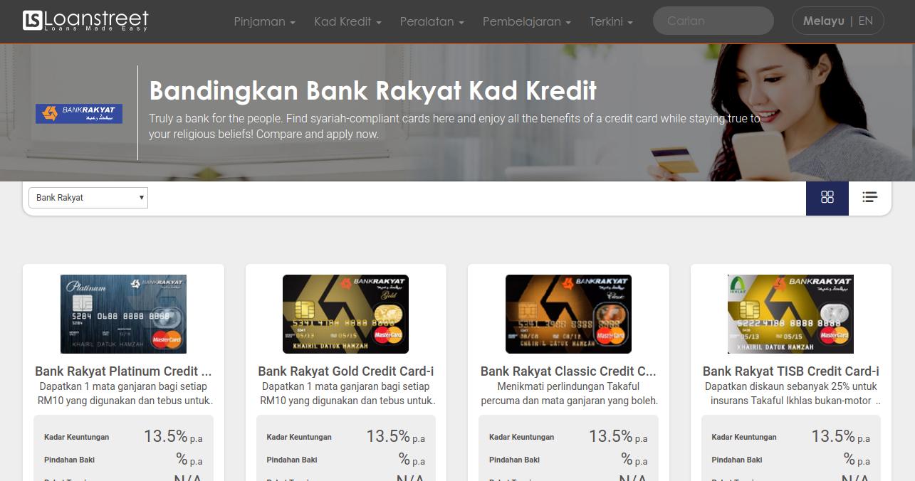 Bandingkan Kad Kredit Bank Rakyat Di Malaysia 2020