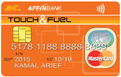 "AFFINBANK BHPetrol ""Touch & Fuel"" MasterCard Contactless"
