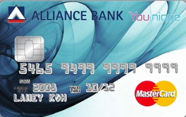 Alliance Bank You:nique Rebates Credit Card
