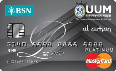 BSN-UUM Platinum MasterCard Credit Card-i