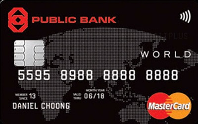 Public Bank World MasterCard Credit Card