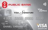Public Bank Visa Signature Credit Card