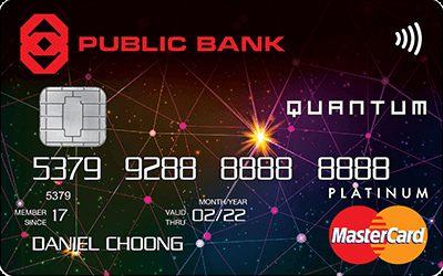 Public Bank Quantum MasterCard Credit Card
