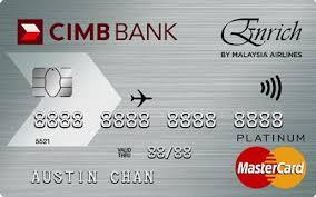 CIMB Enrich Platinum Mastercard