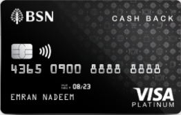 BSN Visa Cash Back Credit Card