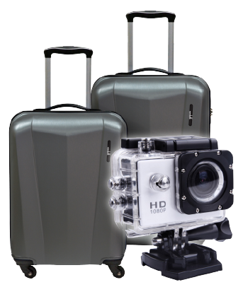 Condotti Luggage Bag or Multipurpose Sports Digital Video Camera