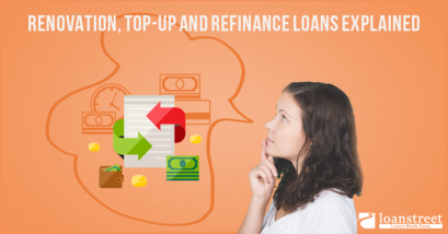 renovation loan, top up loan, refinance loan, renovation, loan