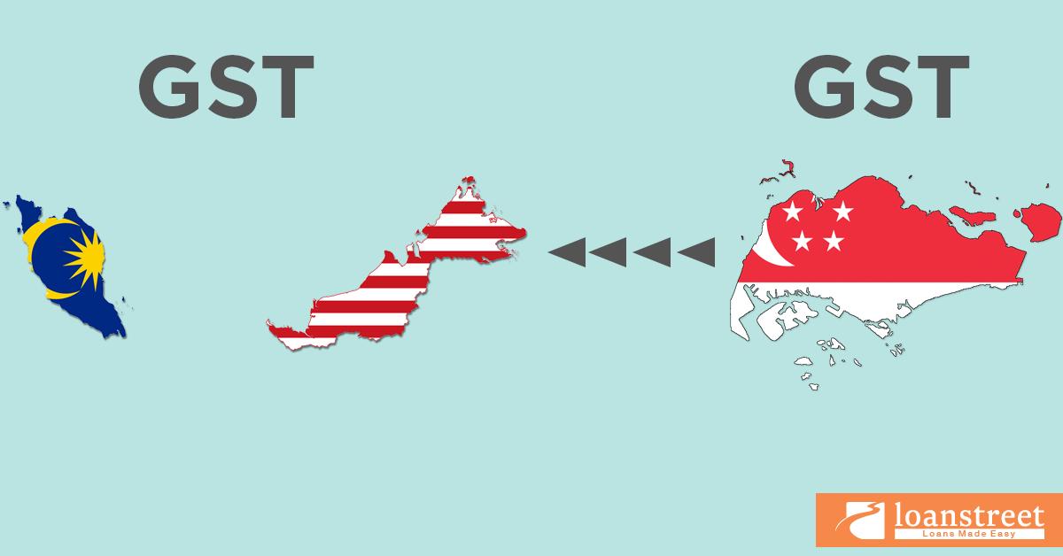 GST, GST Malaysia, GST Malaysia vs Singapura GST, KDNK, cukai, perlindungan GST