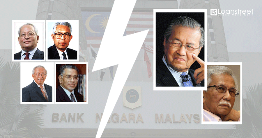 During Mahathir's Previous Era, 4 Central Bank Governors Have Resigned. Why?