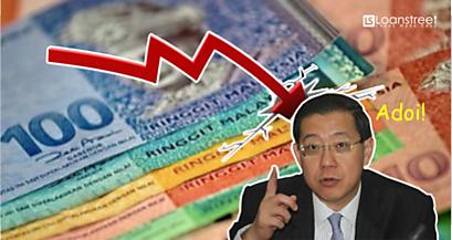 Ringgit price falling Guang Eng