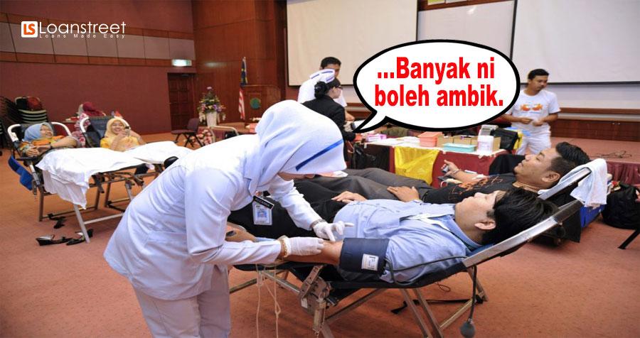 Tak Payah Bayar Bil Hospital Kalau Derma Darah. Ye ke?