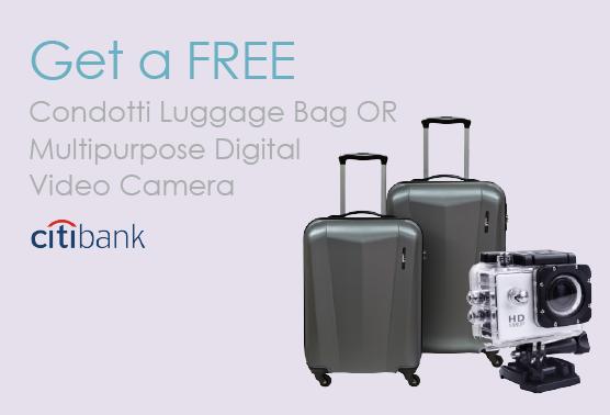 Citibank Condotti Luggage Promo