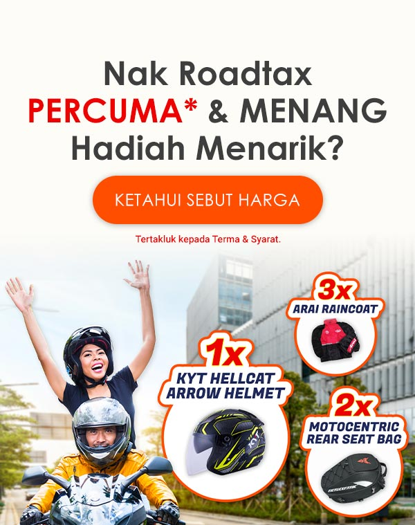 Motorcycle Free Road Tax & Win Prizes